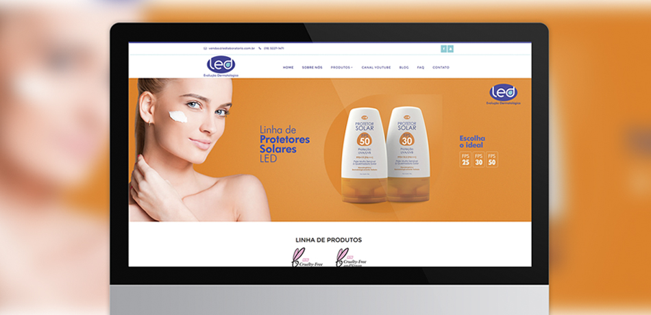 Website LED Evolução Dermatológica